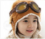 Brown Aviator Children's Hat